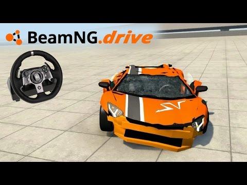 De VOLANTE! \o/ Aventador, Audi R8 e SUV! | BeamNG.drive + Logitech G920 [PT-BR]