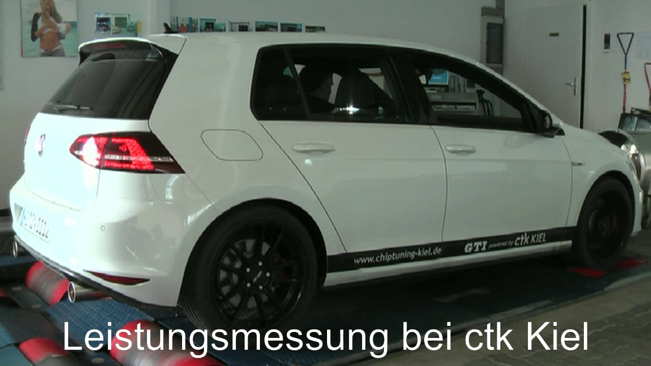 vw golf 7 gti sportauspuff und leistungsmessung bei ctk. Black Bedroom Furniture Sets. Home Design Ideas