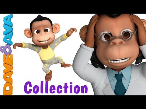 Five Little Monkeys Jumping on the Bed | Nursery Rhymes Collection | Nursery Rhymes Dave and Ava
