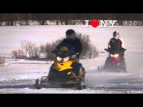 Snowmobiling in the Adirondacks of New York State