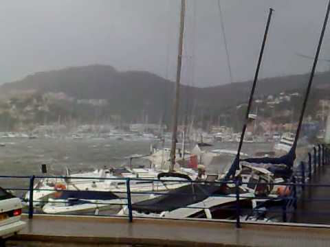 Mallorca Sturm Andraitx Yachthafen 27.10.2008