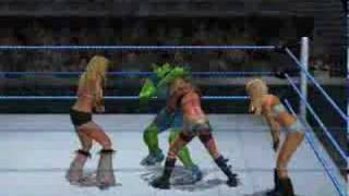 She-Hulk vs 3 Divas (Torrie, Ashley and Kelly Kelly)