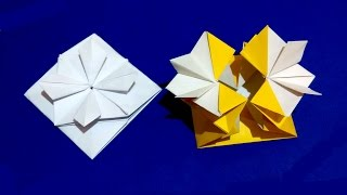 Gift Box With Flower And Secret Message Inside. Origami Card. Ideas For Easter Gift