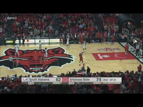 Arkansas State vs. South Alabama 1/23/2017
