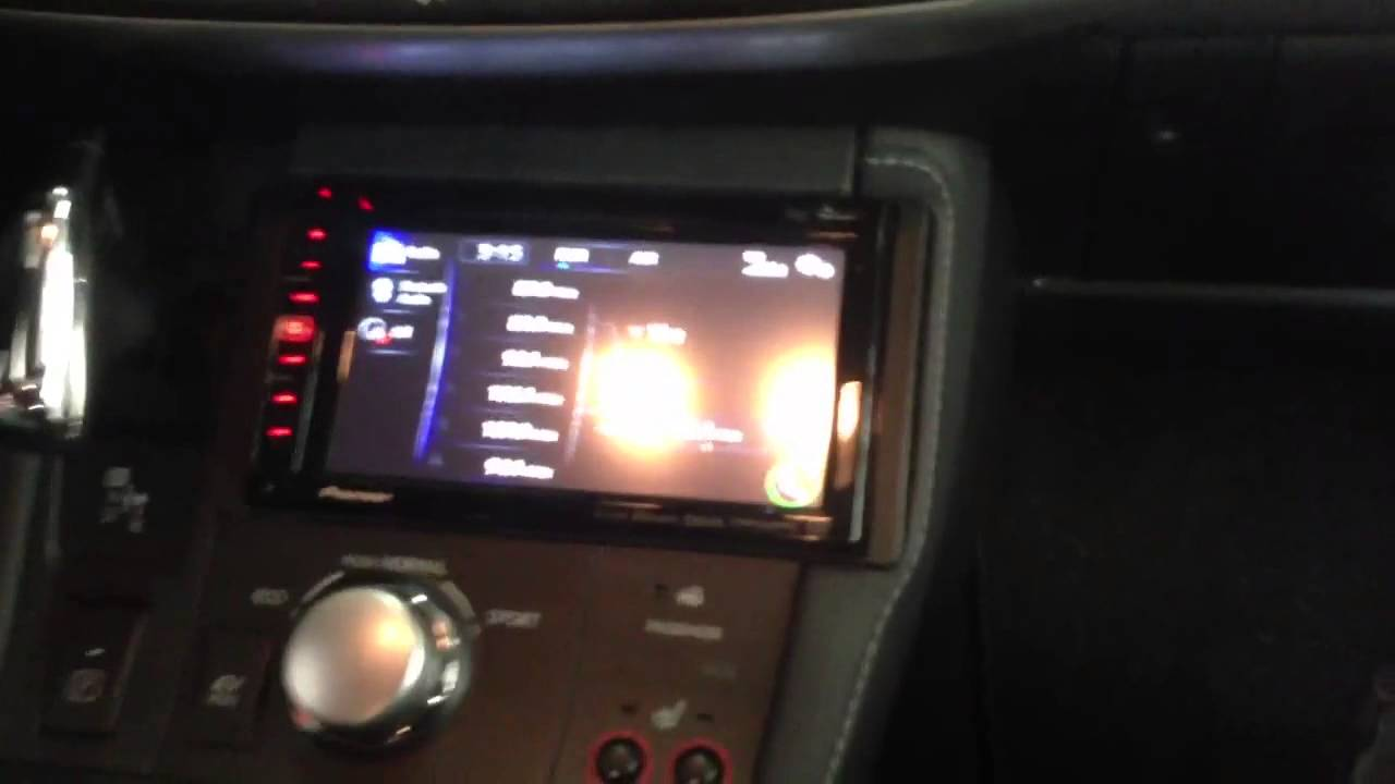 Pioneer Double din in 2013 Lexus CT200h - YouTube