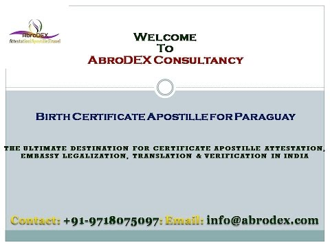 Birth Certificate Apostille for Paraguay