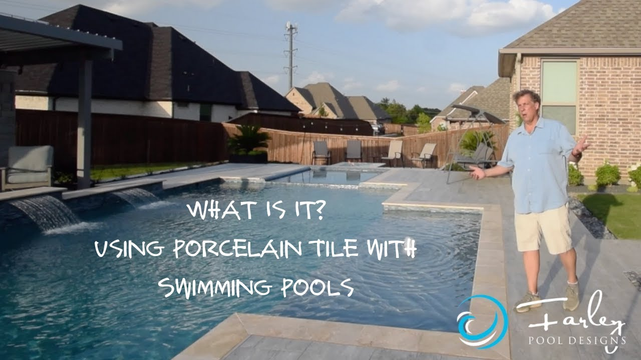 Porcelain Tile With The Swimming Pool