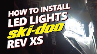 INSTALL LED Ski-Doo Rev XS | 12,000 LM | Brightest LED Headlight For Snowmobiles