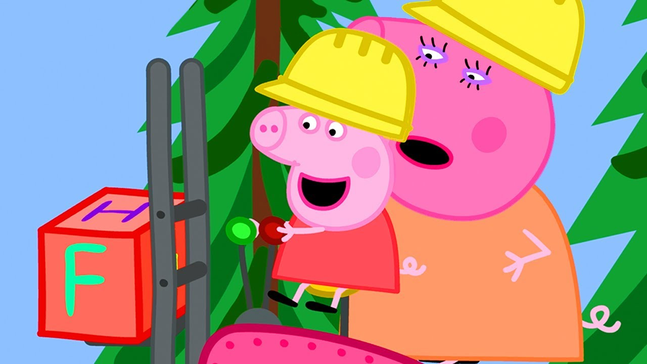 Peppa Pig Official Channel | Mummy Pig's Having Fun at the Digger World