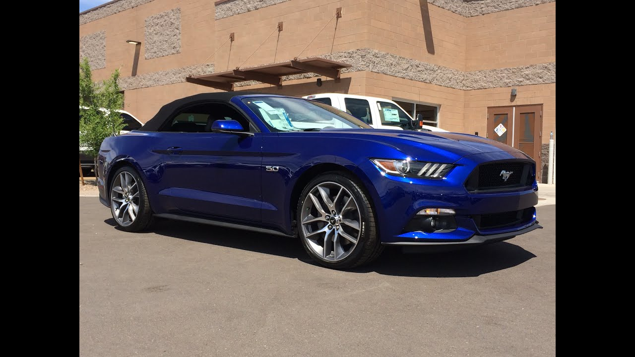 2015 Ford Mustang GT Premium Convertible Walkaround - YouTube