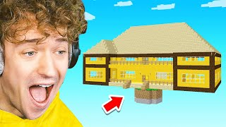 GIANT HOUSE Sky Block TROLL In Minecraft!
