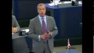 Nigel Farage; Scolds At EU