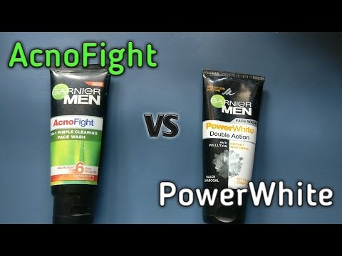 GARNIER MENS AcnoFight vs Power White double action ( which one is better?????)
