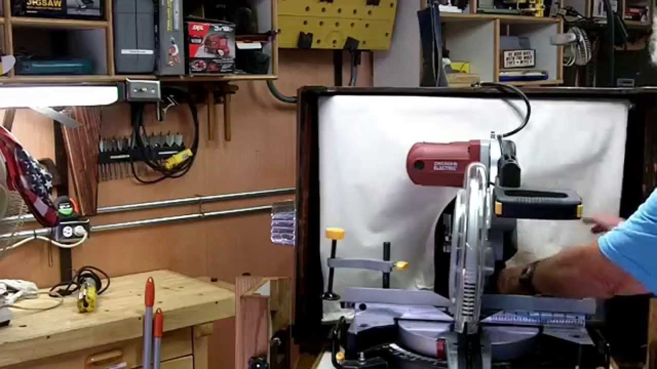 Diy Miter Saw Station With Dust Collection Round Two Woodworks Youtube