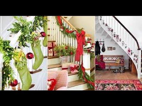 50 ideas para decorar tus escaleras en navidad wow for Decoraciones para gradas