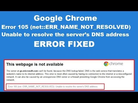 How to Fix Error Code 105 in Google Chrome