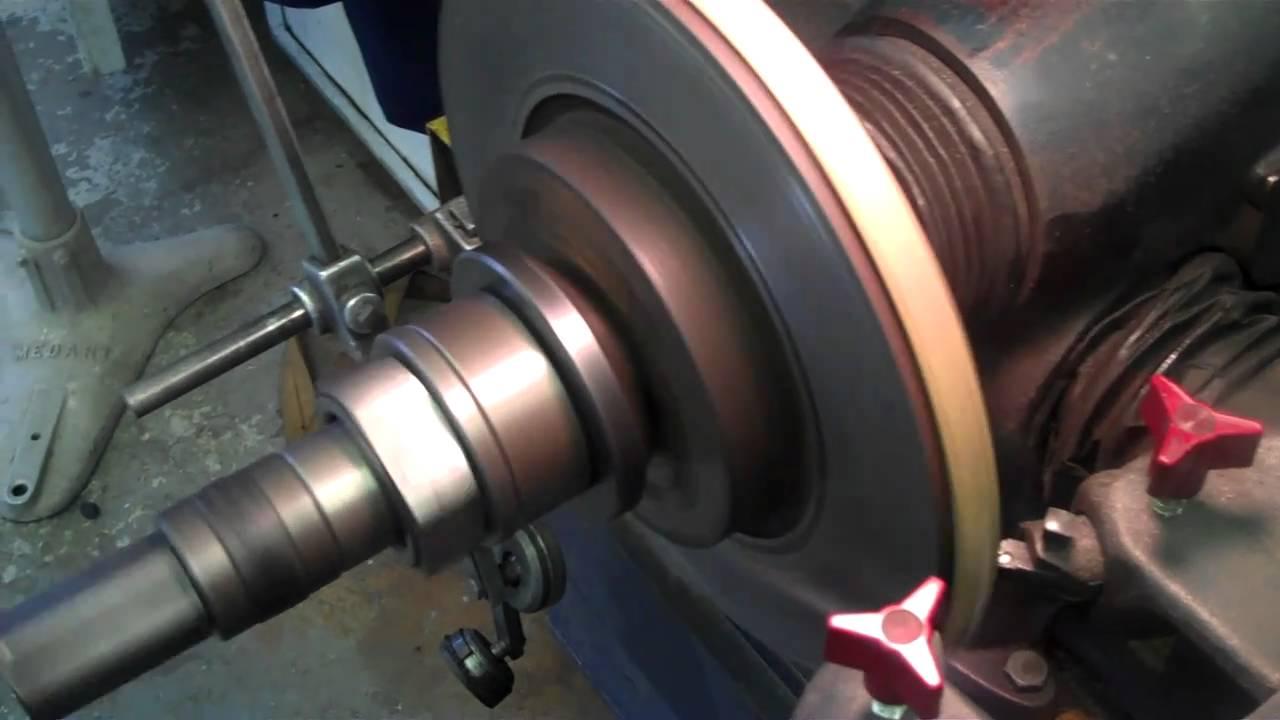 Brake Lathe Rotor Refinishing - YouTube