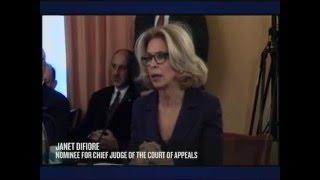 CONFIRMING NEW YORK'S TOP JUDGE