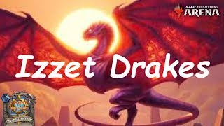 Magic Arena MTGA: Izzet Drakes Control Deck #2 - Guilds of Ravnica - Standard Contructed
