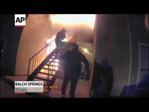 Texas officers catch boy who jumps from fire