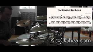 Triple Stroke bassdrum exercise - with Transcription