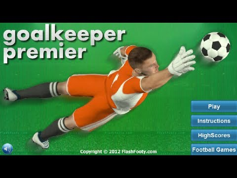 Goalkeeper Premier  - Flash Footy Gameplay by Magicolo