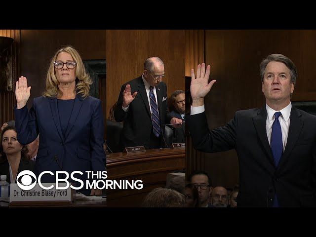 Kavanaugh and his accuser testify in emotional, fiery hearing