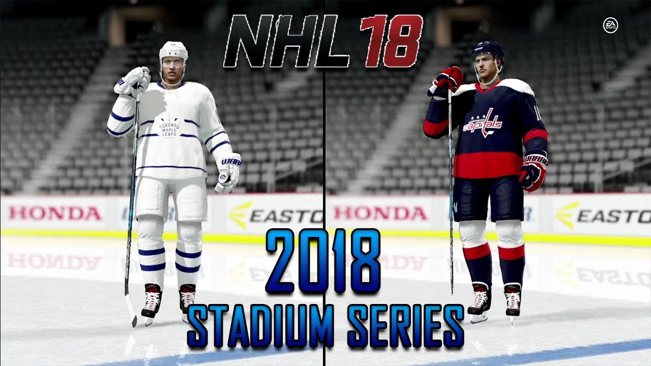 NHL 18 - Re Creating The 2018 Stadium Series Uniforms - YouTube 72b8ec2a560