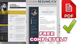 How To Make Modern Professional Resume CV Free 2020 Live Demo Online No Payment No Fee No Card screenshot 2
