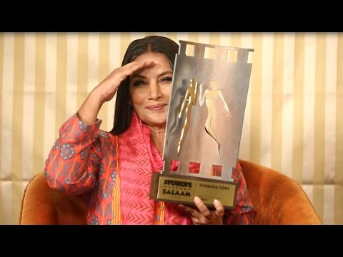 Shabana Azmi Interview for Neerja with Khalid Mohamed | SpotboyE Salaams Winner Speaks