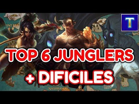 TOP 6 JUNGLAS MAS DIFICILES DE JUGAR DEL LEAGUE OF LEGENDS | TenYasha LOL