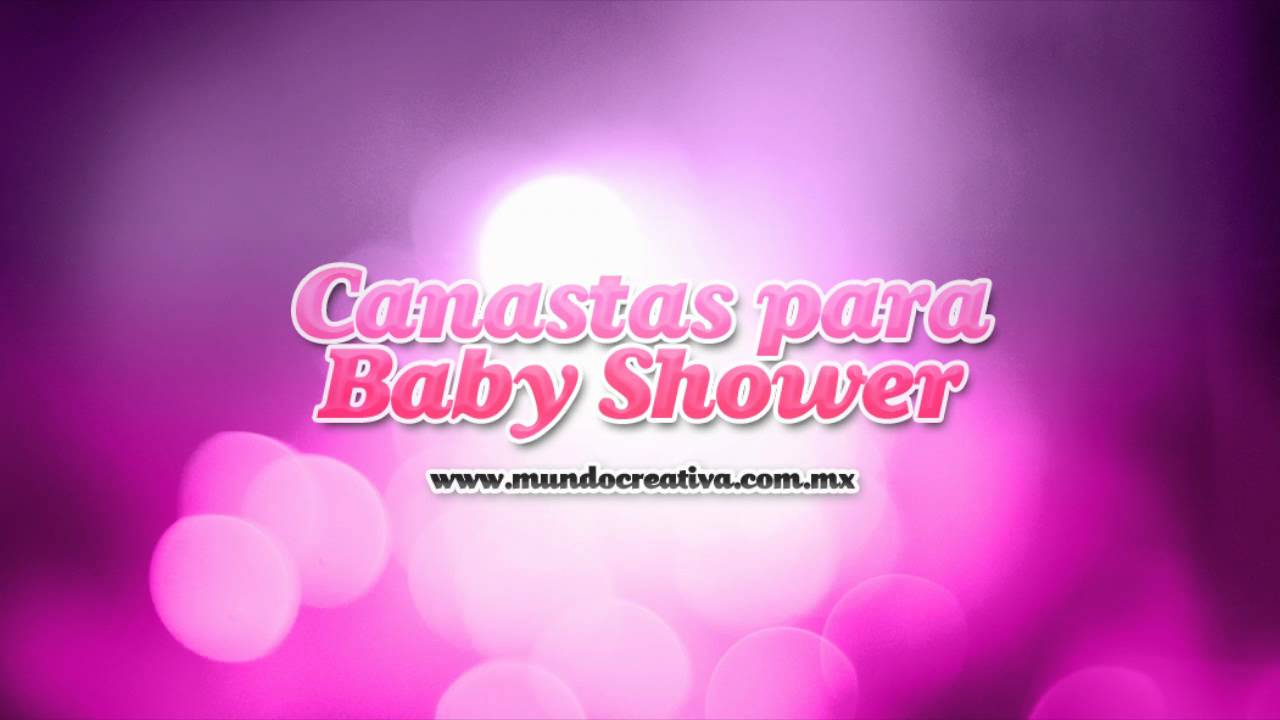 canasta para baby shower youtube