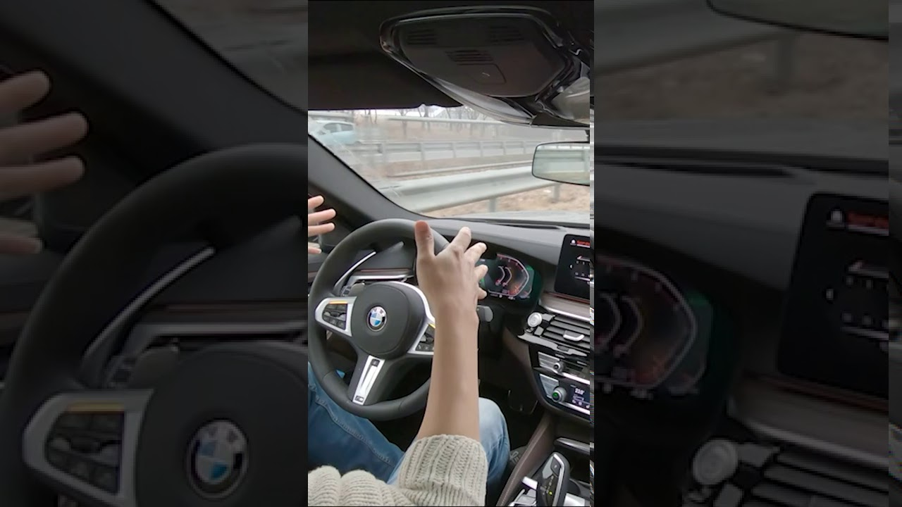 Can your car do this? If you let go the HANDLE! BMW 540i xDrive #shorts