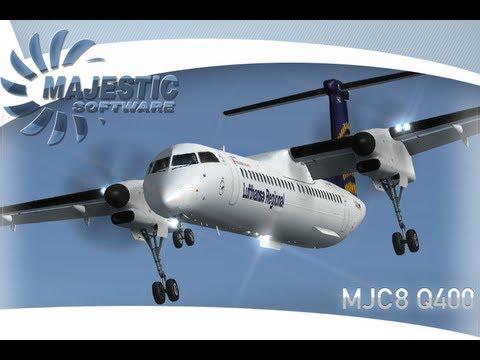 HD - FSX - MAJESTIC DASH 8 Q400 High Altitude Landing
