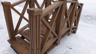 Деревянный мостик для сада/ Wooden Garden Bridge