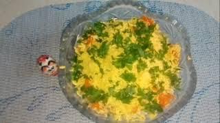 Салат загадка/салат с рыбными консервами/!!!