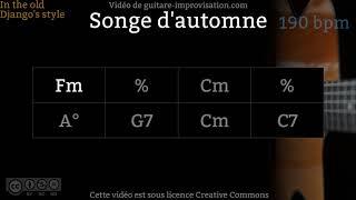 Songe d'automne (190 bpm) - Gypsy jazz Backing track / Jazz manouche