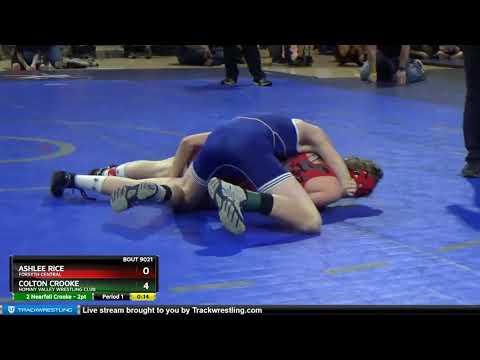 True Beginner Middle School 108-112 Colton Crooke Hominy Valley Wrestling Club Vs Ashlee Rice Fors