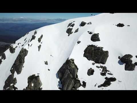 Hard core backcountry skiing