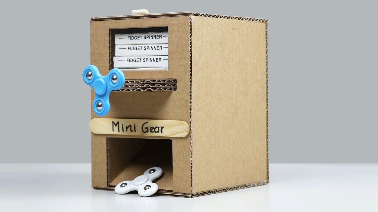 Wow Amazing Diy Fidget Spinner Vending Machine Youtube
