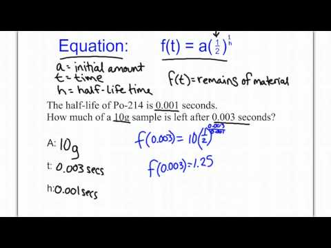 Half-life Word Problems - YouTube
