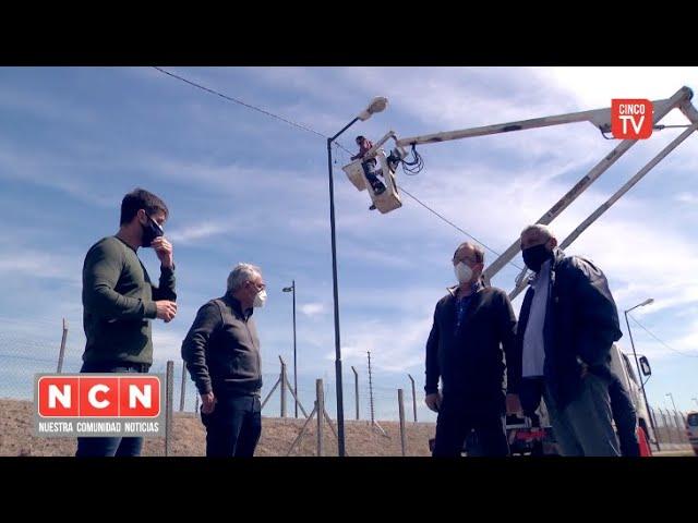 CINCO TV - Julio Zamora monitoreó una amplia renovación de luminarias en Rincón de Milberg