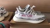 a46846c0efe Real vs Fake adidas YEEZY Boost 350 V2 ZEBRA Legit Check UV Light ...