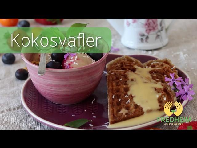 Ukens oppskrift: Kokosvafler