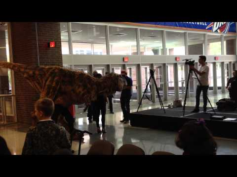 Baby T from Walking With Dinosaurs Visits Chesapeake Energy Arena