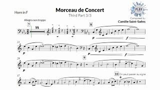 FREE Play-Along for HORN: MORCEAU DE CONCERT (3/3) 🎶📲📯👏 (no metronome in description)