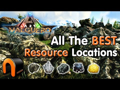 ARK VALGUERO Best Resource Farm Locations - Metal, Crystal, Obsidian, Oil, Sulfur