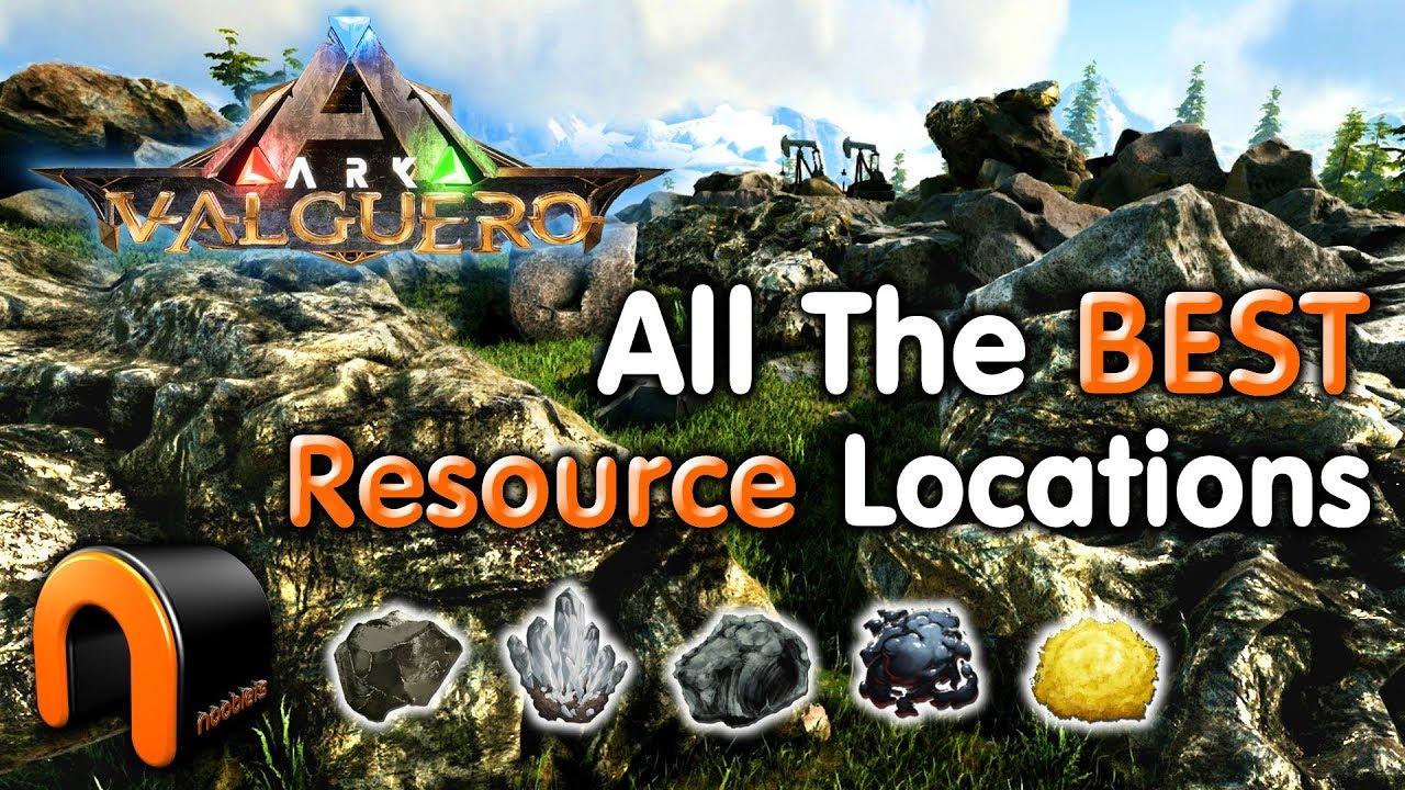 Ark Karte The Island.Ark Valguero Best Resource Farm Locations Metal Crystal Obsidian Oil Sulfur