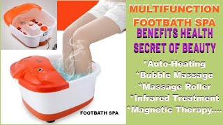 Foot bath massager demo in hindi
