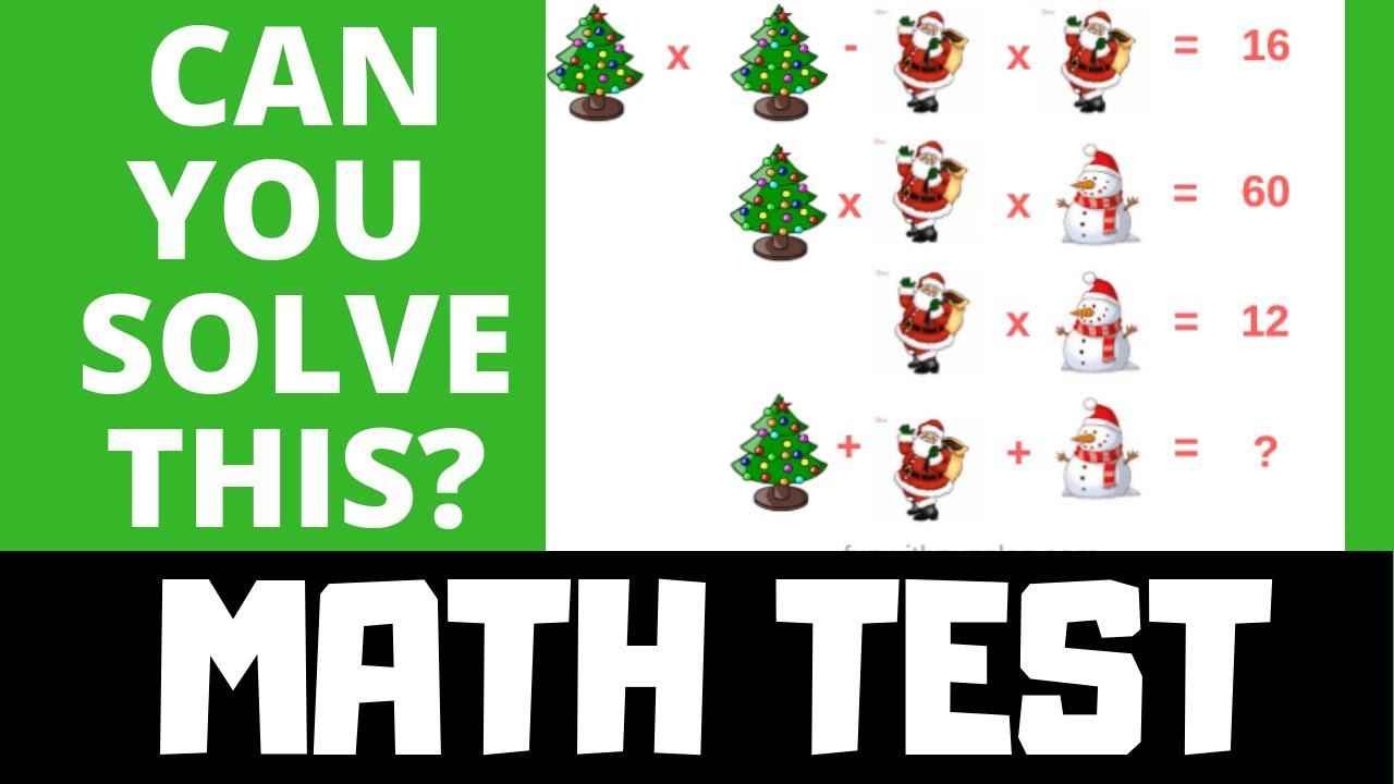 Christmas Brain Teasers With Answers.Basic Algebra Brain Teasers For Kids Simultaneous Math Equations Brain Teasers With Answers